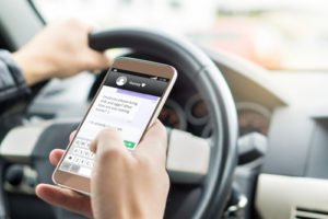 texting while driving accidents