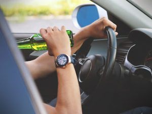 drinking beer while driving