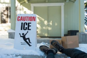 ice slip and fall