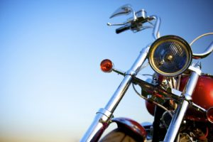 Motorcycle with Blue Sky in Background